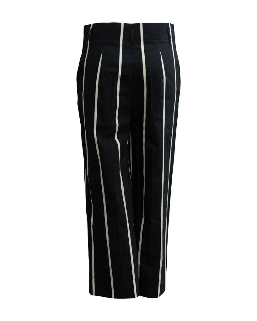 Vertical Stripe Cropped Pant