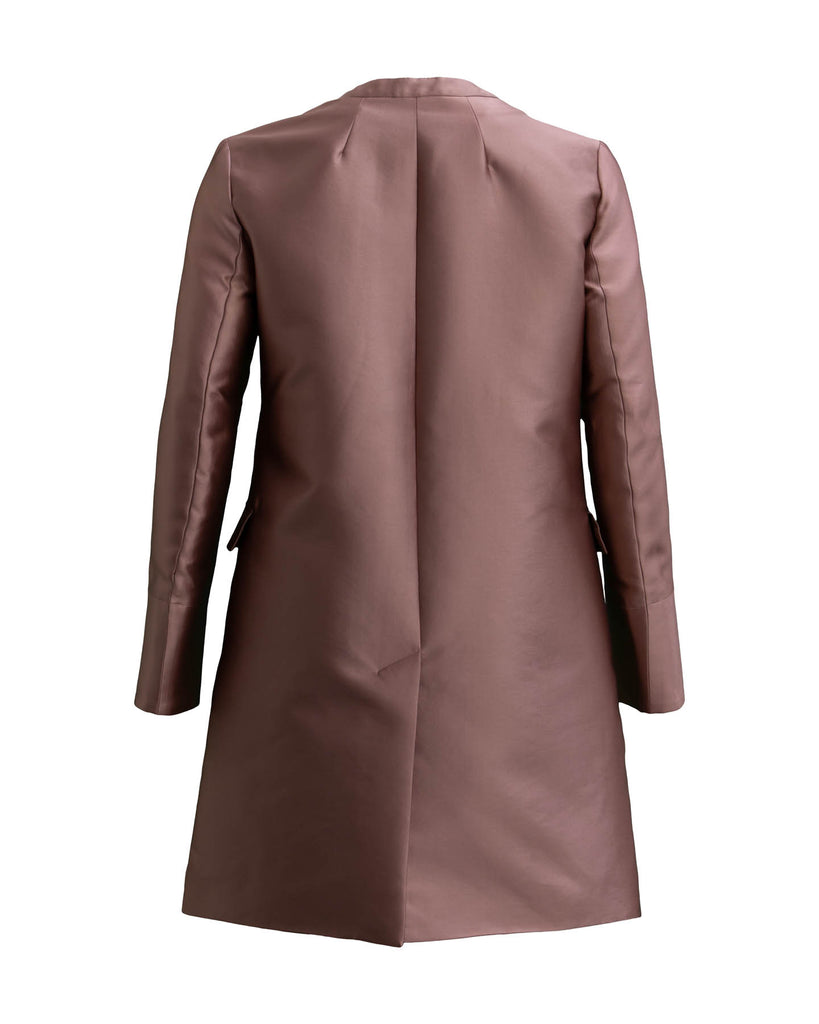 Shiny Silk Blend Coat