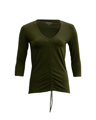 V-Neck Sweater with Arm Patch Detail