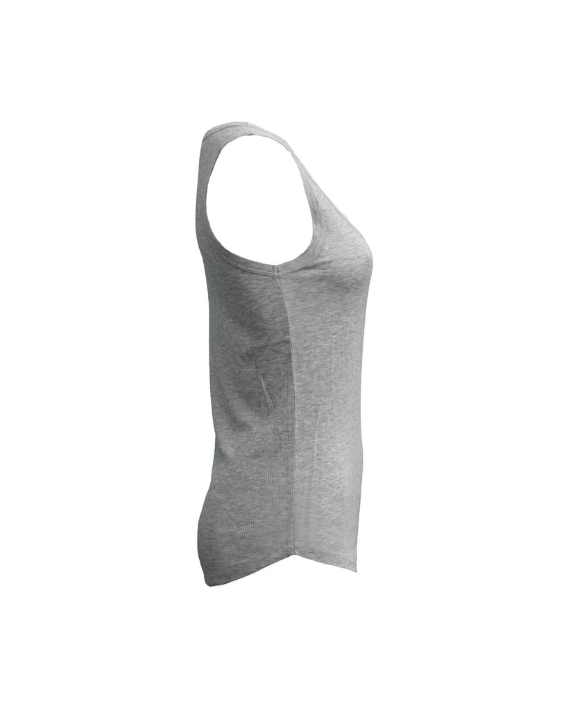 Scoop Neck Ribbed Tank Top