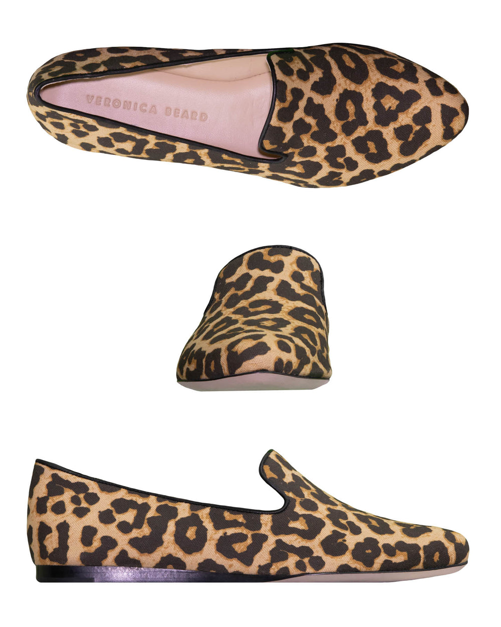 Canvas Leopard Loafer