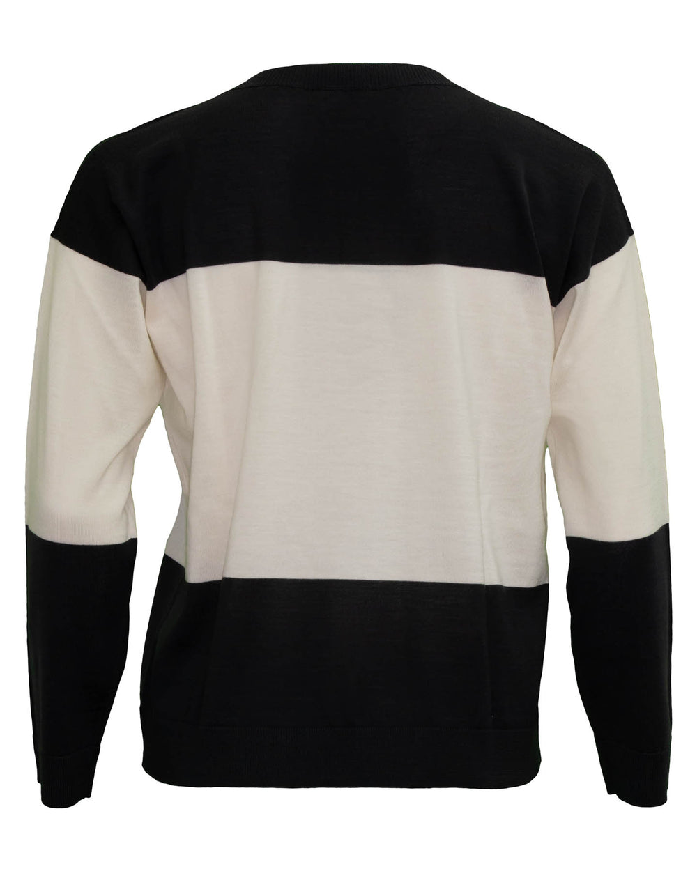 V-Neck Color Block Pullover