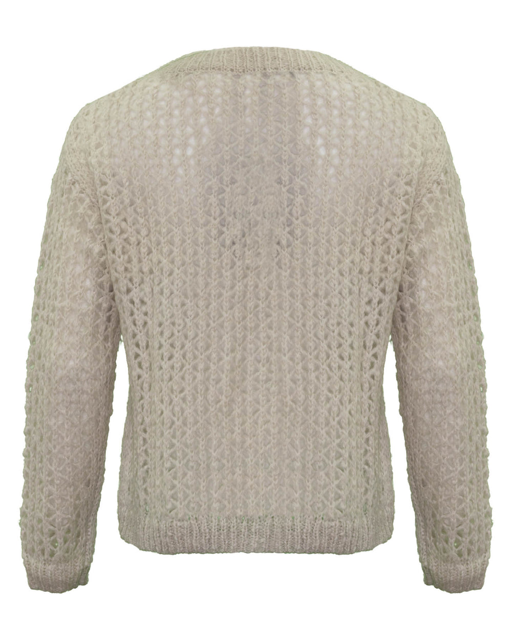 Open Weave Mohair Pullover