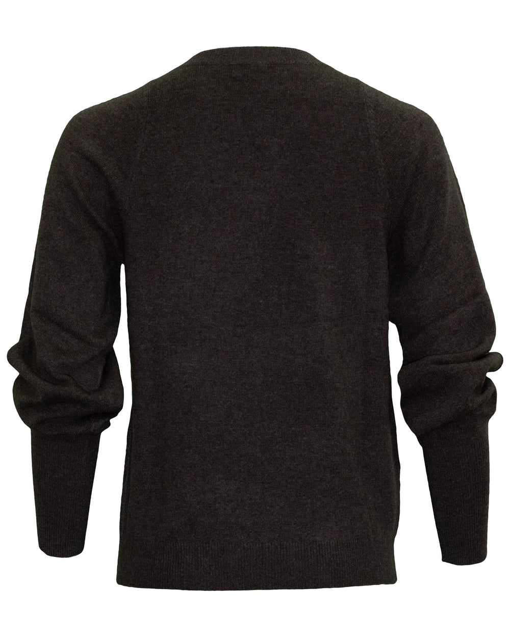 Crewneck Organic Cashmere Knit Brown