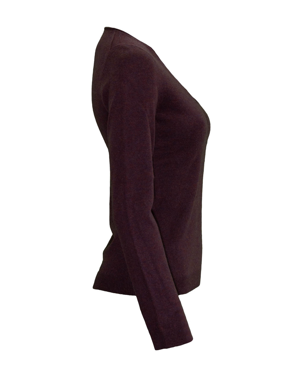 V Neck Cashmere Sweater Burgundy