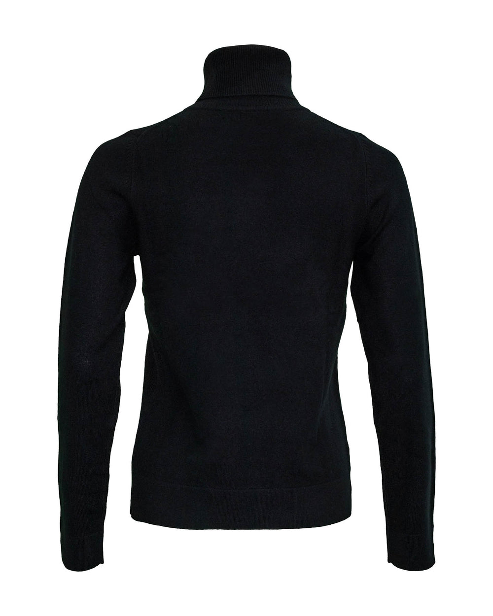Turtleneck Organic Cashmere Sweater Black