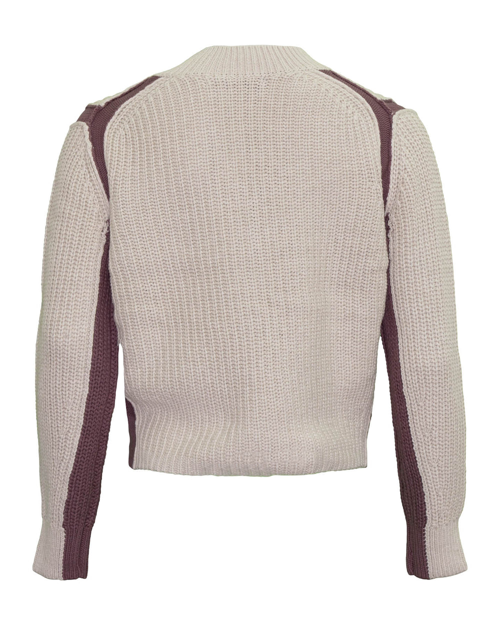 Violet Colorblock Cotton Sweater