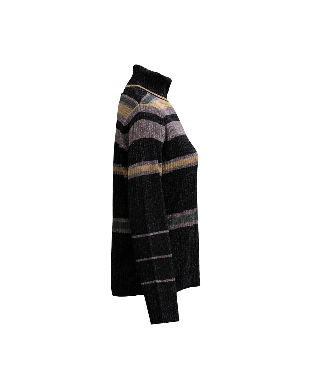 Lurex Striped Turtleneck