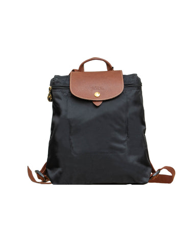 Le Pliage Medium Shoulder Tote Black