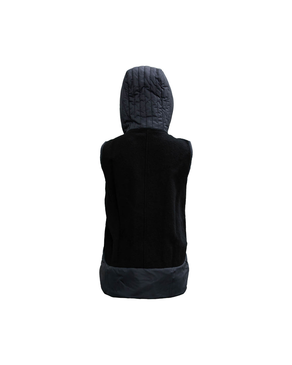 Hooded Vest With Hidden Zipper