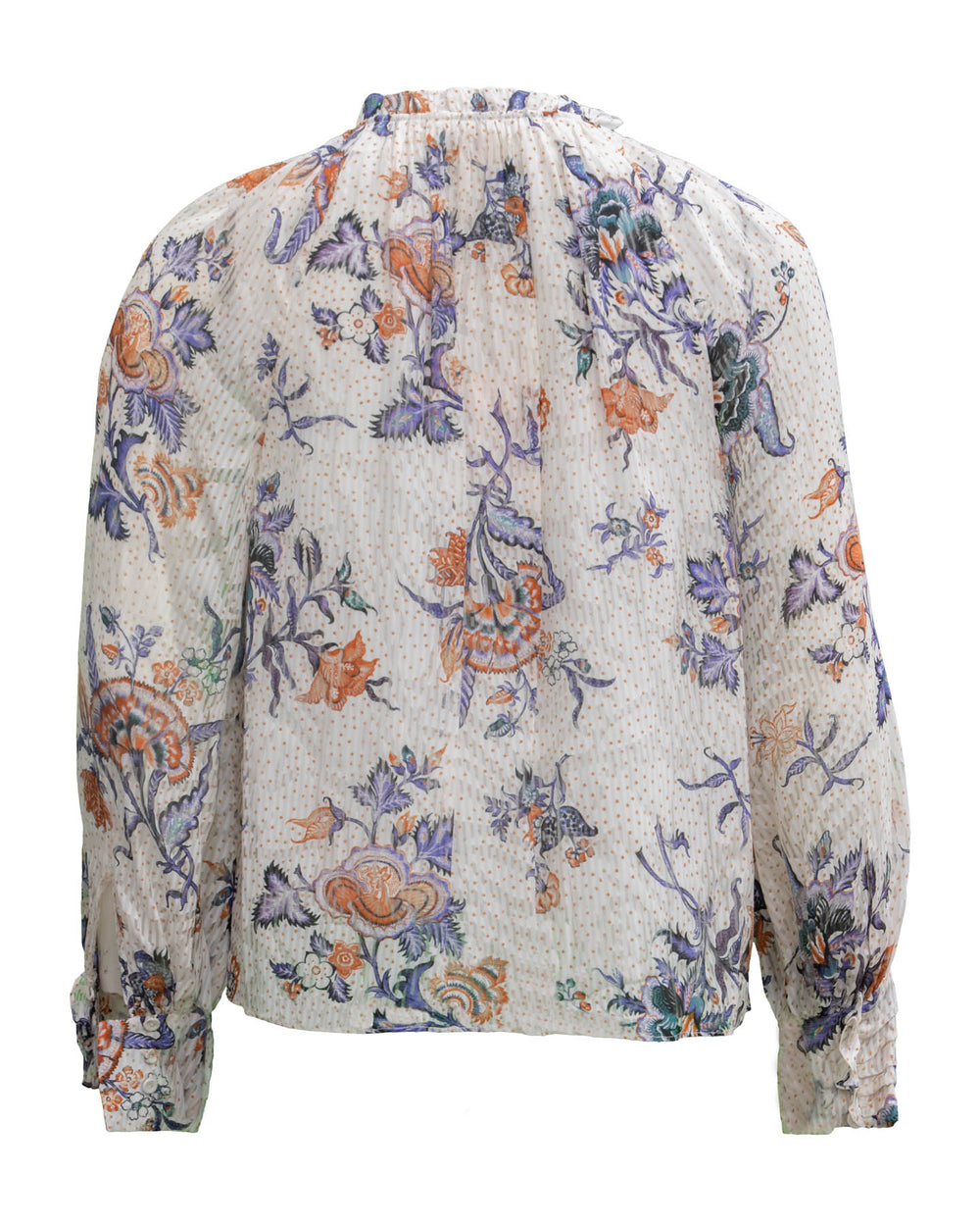 Toile Floral Print  Top