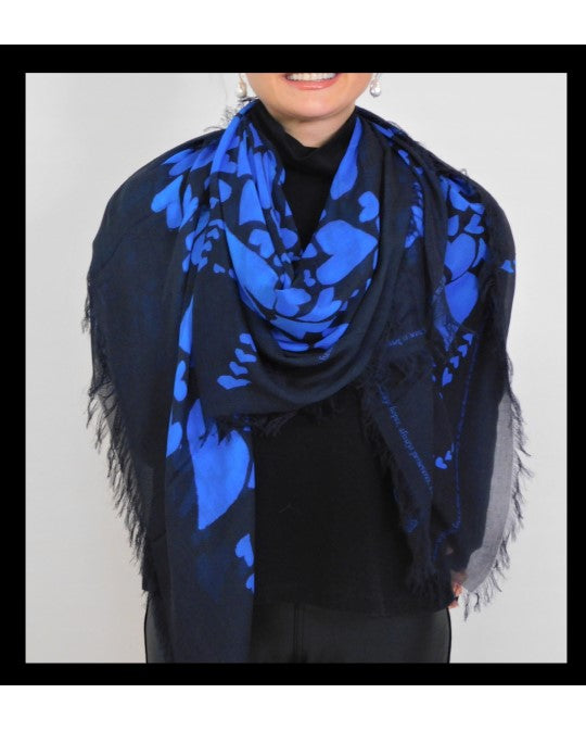 Pure Blue Hearts Scarf