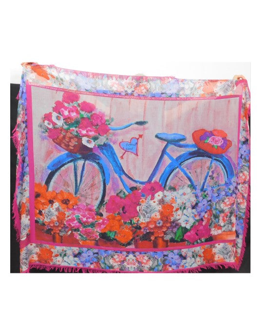 Blue Bicycle Scarf