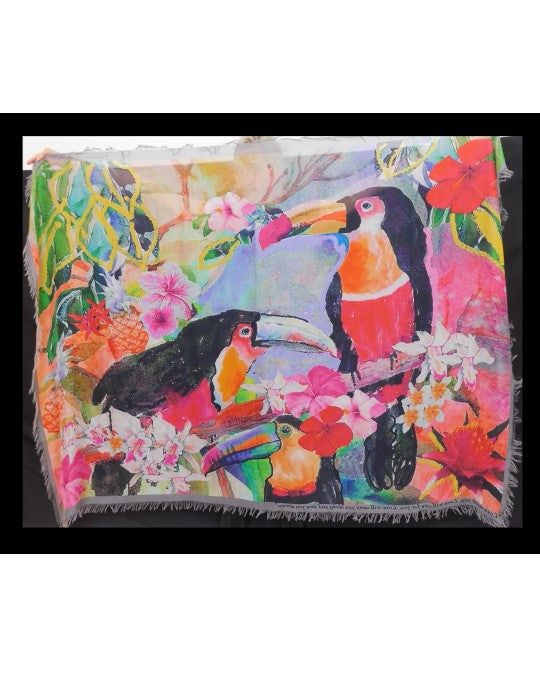 Rainbow Toucans Scarf