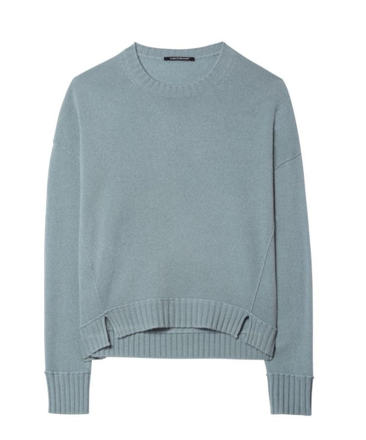 Crew Neck Cashmere Mix Sweater