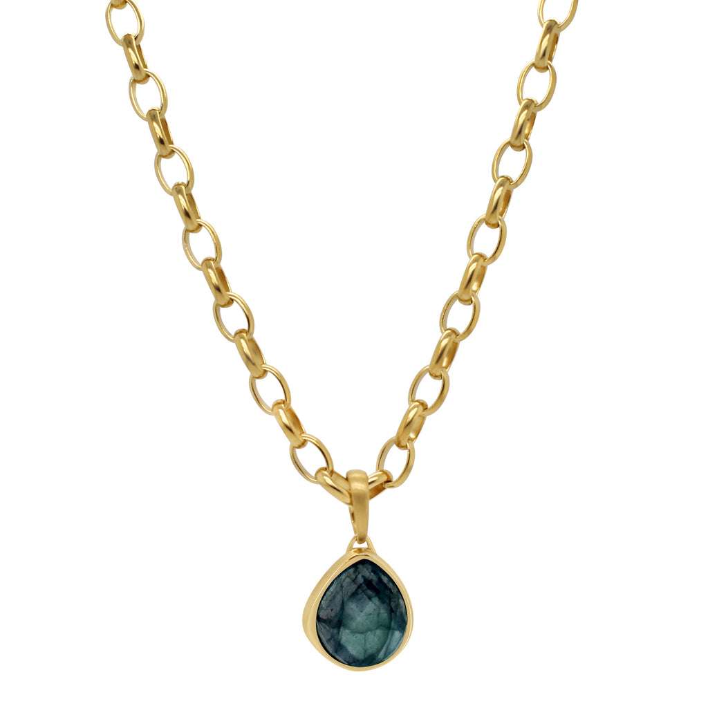 Mar Pendant Necklace Blue Topaz