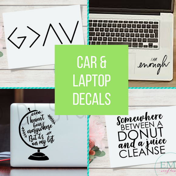Car & Laptop Decals