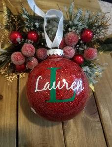 Monogrammed Christmas Ornament - EMP VINYL DESIGNS