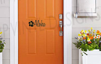 Aloha Vinyl Door Decal