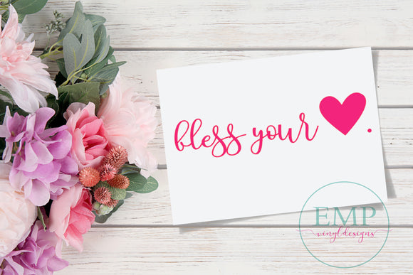 Bless Your Heart Decal - EMP VINYL DESIGNS