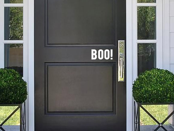 Boo Door Decal