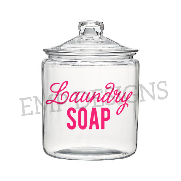 Laundry Soap Jar Decal