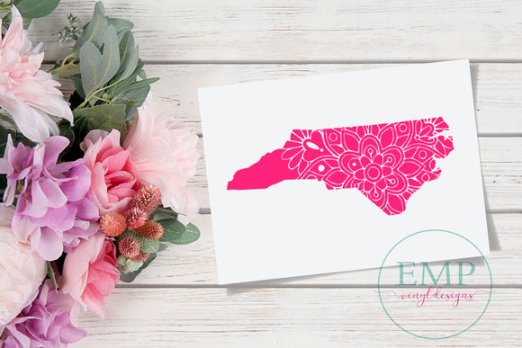 North Carolina Mandala Decal - EMP VINYL DESIGNS