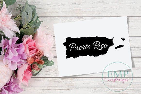 Puerto Rico Decal - EMP VINYL DESIGNS