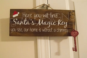 Santa's Magic Key Christmas Sign - EMP VINYL DESIGNS