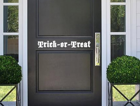 Trick or Treat Door Decal