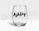 Southern Belle Raising Hell Stemless wine glass