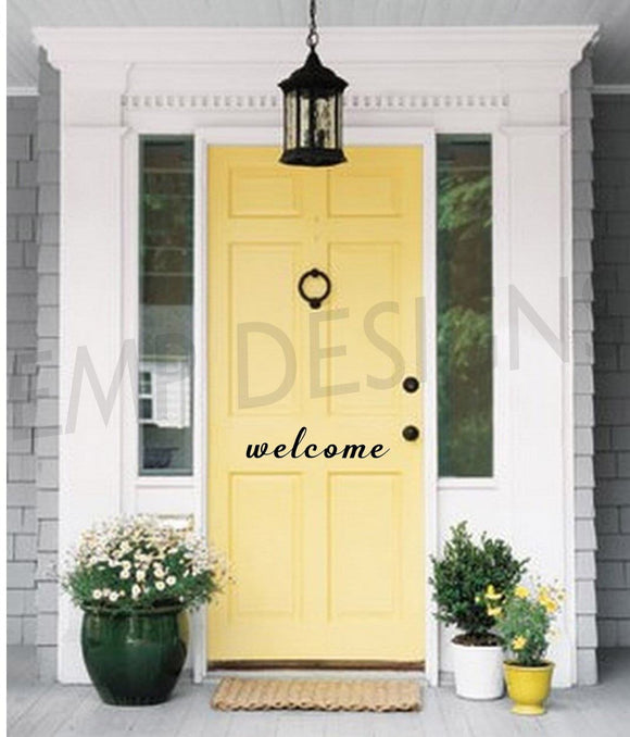 Welcome Front Door Decal - EMP VINYL DESIGNS