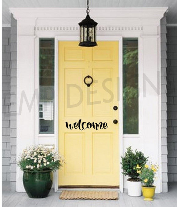 Welcome Front Door Decal 2 - EMP VINYL DESIGNS