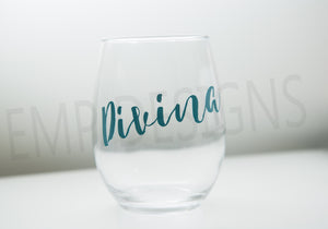 Custom Wine Glass - EMP VINYL DESIGNS