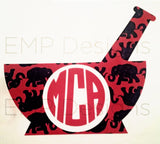 Pharmacist Monogram Decal - EMP VINYL DESIGNS