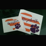 Orange & Purple Striped Monogram Decal for Yeti, Yeti Rambler Decal