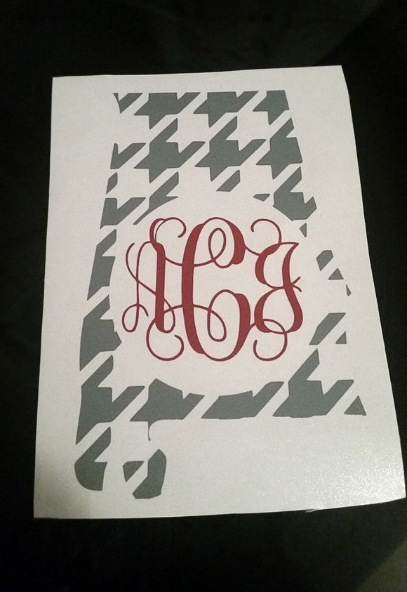 Alabama Monogram Decal - EMP VINYL DESIGNS