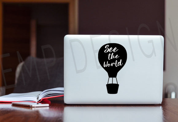 See the World Laptop Decal - EMP VINYL DESIGNS