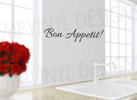Bon Appetit Decal - EMP VINYL DESIGNS