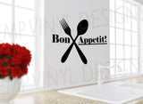 Bon Appetit Wall Decal - EMP VINYL DESIGNS
