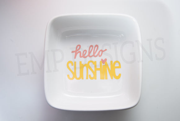 Hello Sunshine Jewelry Dish - EMP VINYL DESIGNS