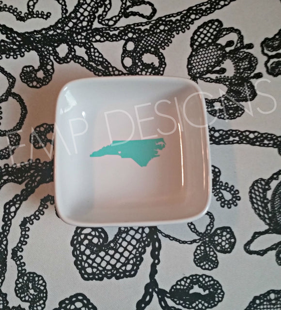 North Carolina Jewelry Dish - EMP VINYL DESIGNS