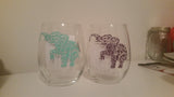 Elephant Wine Glass - EMP VINYL DESIGNS