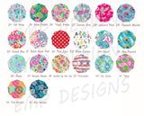 Circle Monogram Decal Pattern Options Continued