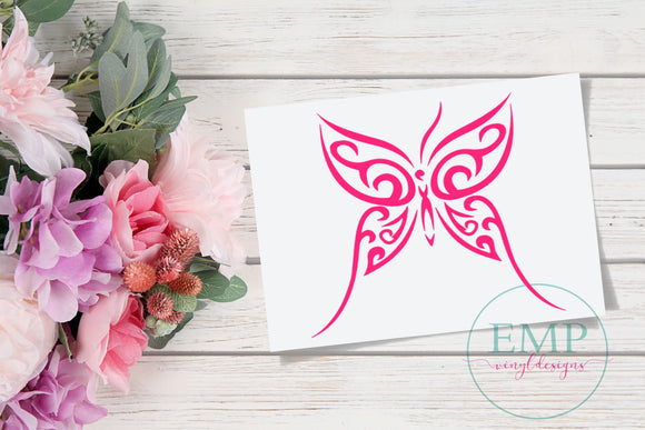Butterfly Car Decal - EMP VINYL DESIGNS