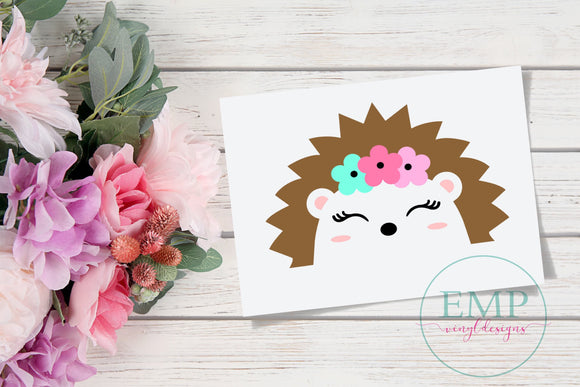 Hedgehog decal - EMP VINYL DESIGNS