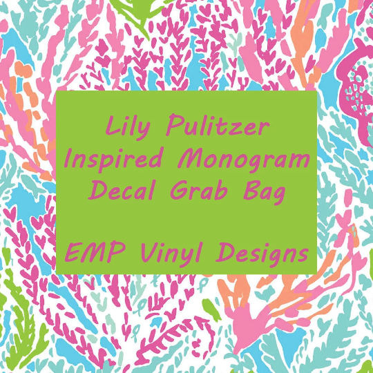 Lilly Pulitzer Inspired Monogram Decal Grab Bag - EMP VINYL DESIGNS