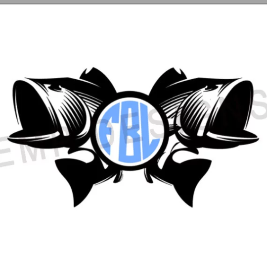 Fishing Monogram Decal