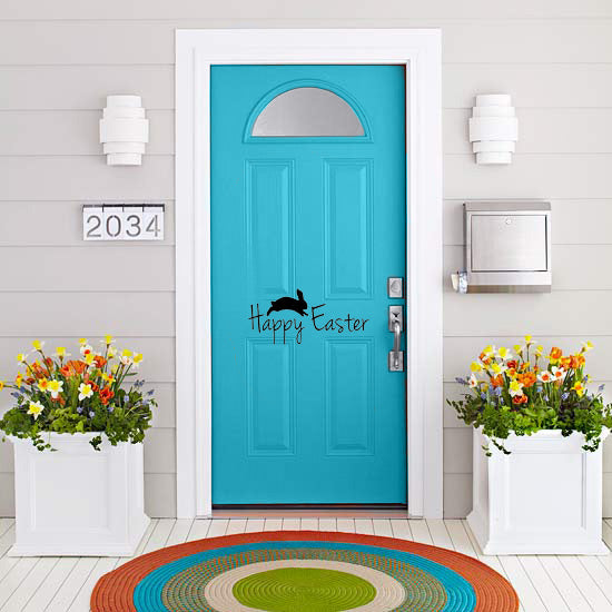Happy Easter Door Decal