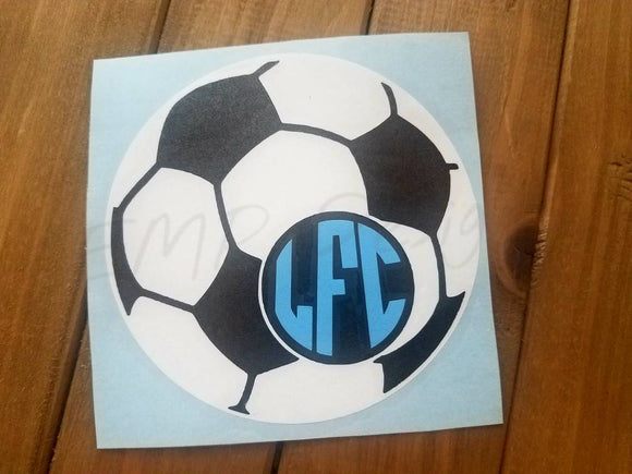 Soccer Monogram Decal